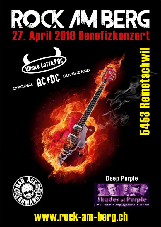 Benefizkonzert Rock am Berg, 27. April, Remetschwil