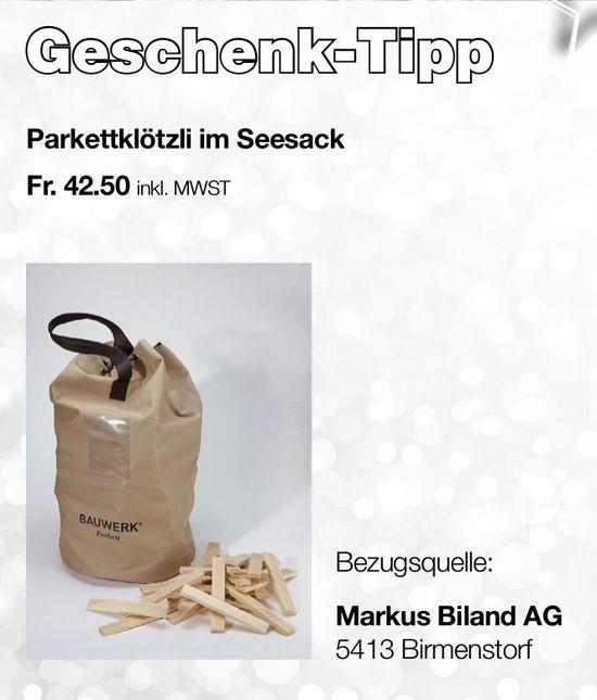 Geschenk-Tipp, Markus Biland AG
