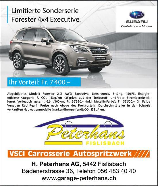 Limitierte Sonderserie Forester 4x4 Executive, H. Peterhans AG