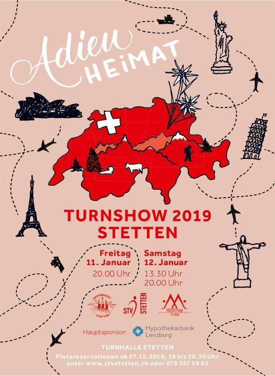 Adieu Heimat - Turnshow 2019 Stetten, 11./12. Jan.