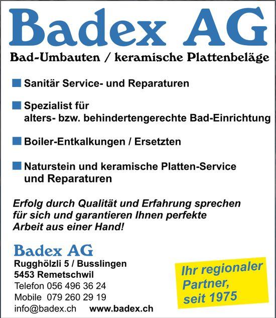 Badex AG, Bad-Umbauten / keramische Plattenbeläge