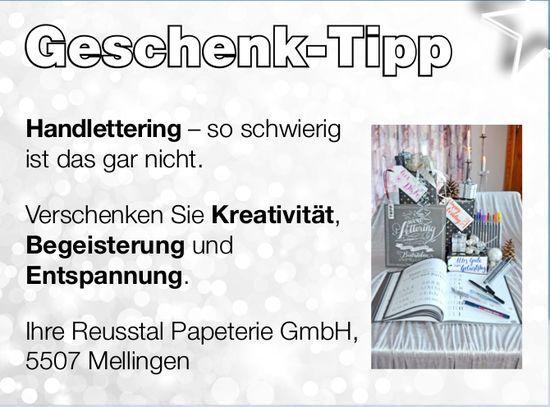 Geschenk-Tipp, Reusstal Papeterie GmbH