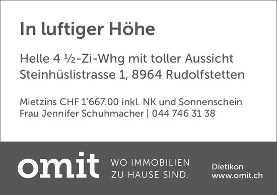 4½-Zi-Whg, Rudolfstetten, zu vermieten