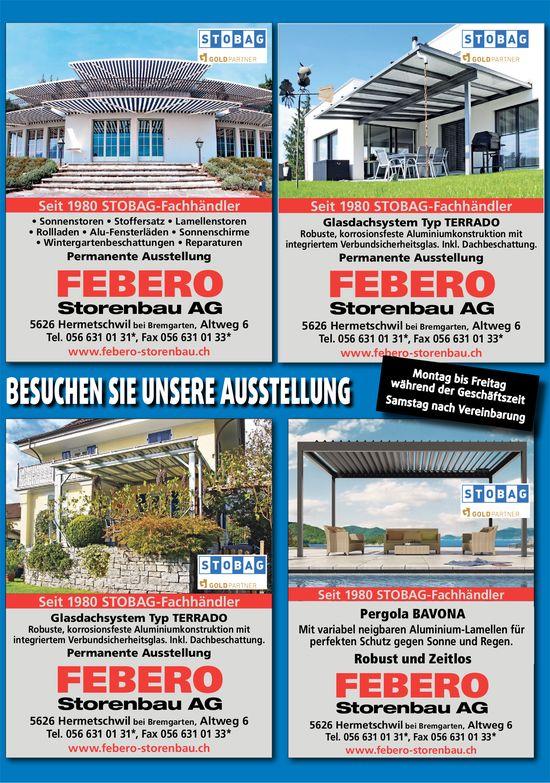 FEBERO FEBERO Storenbau AG - Besuchen Sie unsere Ausstellung