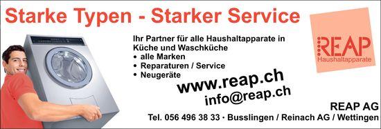 REAP AG - Starke Typen - Starker Service