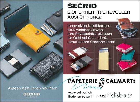 Papeterie Calmart AG - SECRID: SICHERHEIT IN STILVOLLER AUSFÜHRUNG.