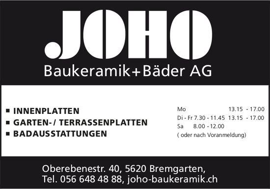 JOHO Baukeramik + Bäder AG