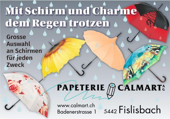Papeterie Calmart AG - Mit Schirm und Charme dem Regen trotzen