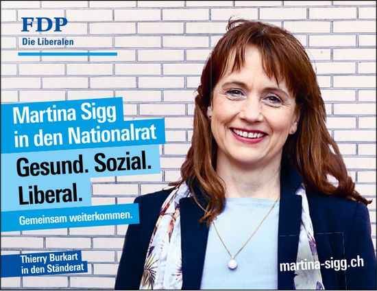 FDP - Martina Sigg in den Nationalrat