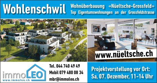 Wohnüberbauung «Nüeltsche-Grossfeld» IN Wohlenschwil - Projektvorstellung vor Ort am 7. Dez.