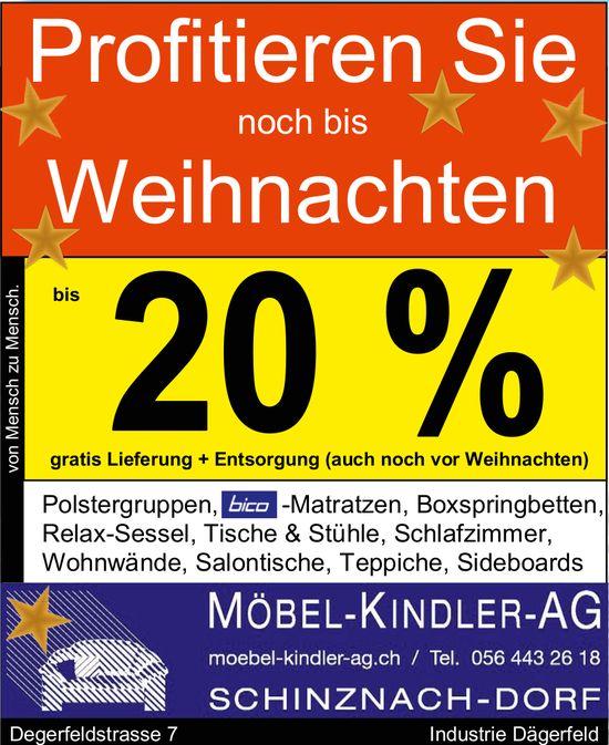 MÖBEL-KINDLER-AG - Profitieren Sie noch bis Weihnachten bis 20%