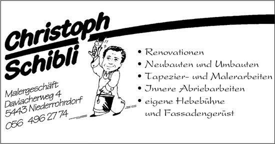 Christoph Schibli, Malergeschäft