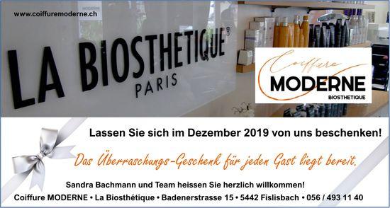 Coiffure MODERNE La Biosthetique - Lassen Sie sich im Dezember 2019 von uns beschenken!
