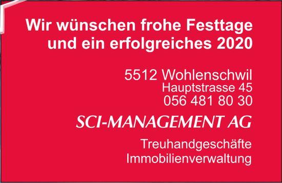 SCI-MANAGEMENT AG - Wir wünschen frohe Festtage und ein erfolgreiches 2020