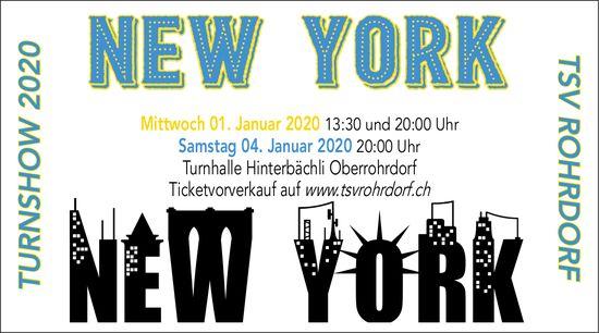 "TSV Rohrdorf Turnshow 2020 - ""NEW YORK"" am 1.  + 4. Januar 2020"