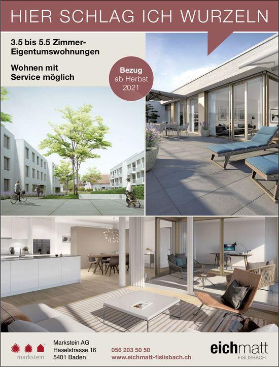 Eichmatt Fislisbach - 3.5 bis 5.5 Zimmer- Eigentumswohnungen