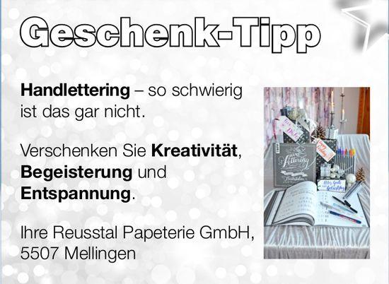 Ihre Reusstal Papeterie GmbH - Geschenk-Tipp
