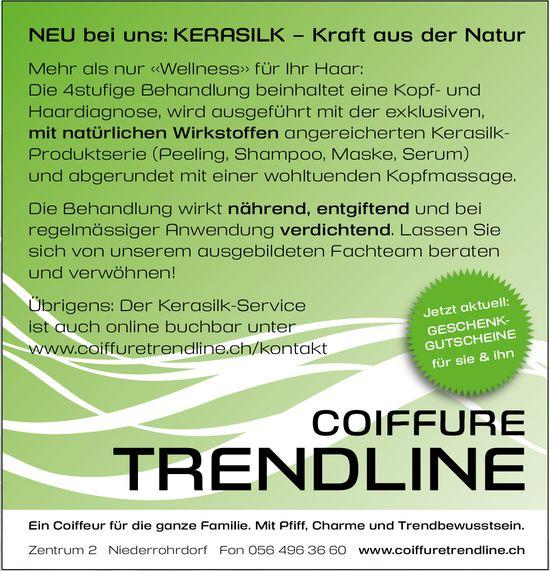 Coiffure Trendline - NEU bei uns: KERASILK – Kraft aus der Natur