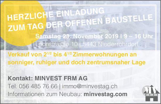 Verkauf von 2.5 bis 4.5 Zimmerwohnungen in Niederrohrdorf