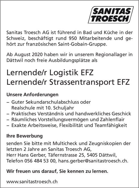 Ausbildungsplätze, Sanitas Troesch AG,  Dättwil, zu vergeben