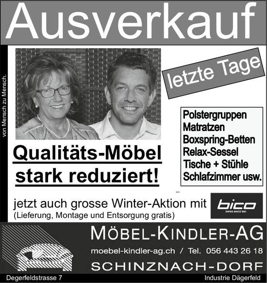 Möbel-Kinder-AG - Ausverkauf, letzte Tage