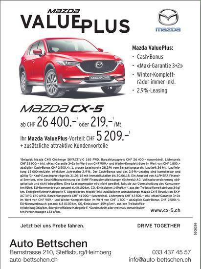 Auto Bettschen, Steffisburg / Heimberg - Mazda ValuePlus
