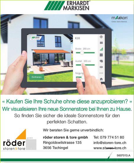 Röder Storen & Tore GmbH - Wir visualisieren Ihre neue Sonnenstore bei Ihnen zu Hause.