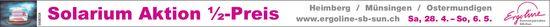 Ergoline Sonnenparadies - Solarium Aktion ½-Preis, 28.4.-6.5.