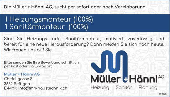 Heizungsmonteur & Sanitärmonteur, Müller & Hänni AG, Seftigen, gesucht