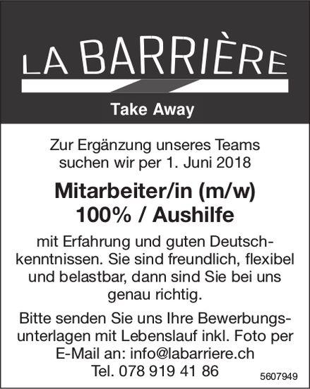 Mitarbeiter/in (m/w), La Barrière, gesucht