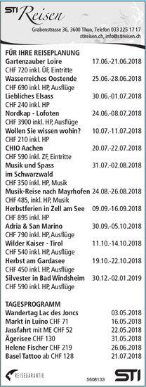 STI Reisen - FÜR IHRE REISEPLANUNG / TAGESPROGRAMM