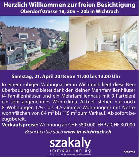 Herzlich Willkommen zur freien Besichtigung in Wichtrach am 21. April