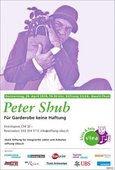Stiftung Silea - Peter Shub: Für Garderobe keine Haftung, am 26. April