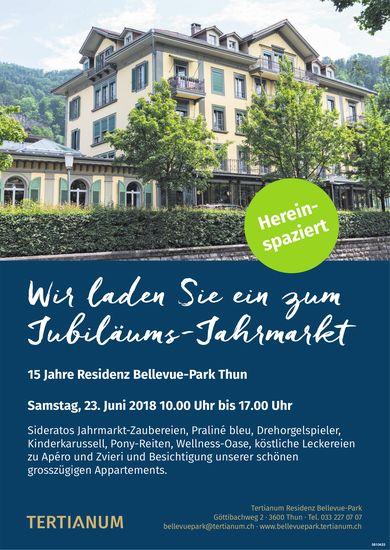 Tertianum Residenz Bellevue-Park - Wir laden Sie ein zum Jubiläums-Jahrmarkt am 23. Juni