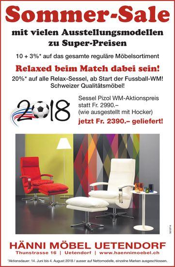 Hänni Möbel Uetendorf - Sommer-Sale
