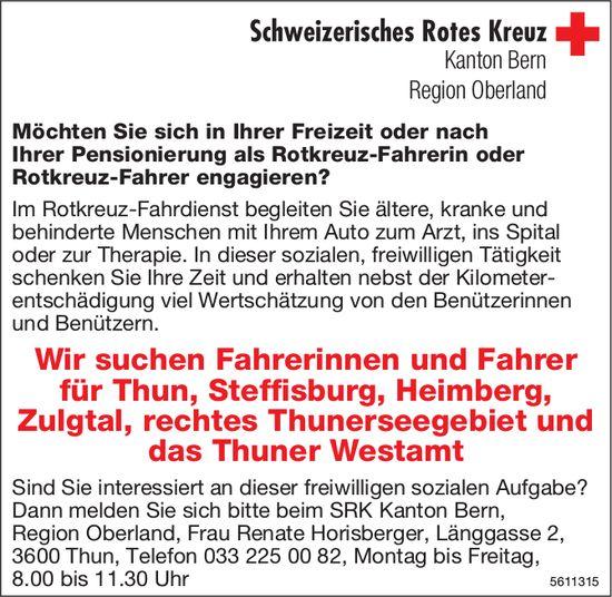 Schweizerisches Rotes Kreuz - Wir suchen Fahrer/innen Thun, Steffisburg, Heimberg...