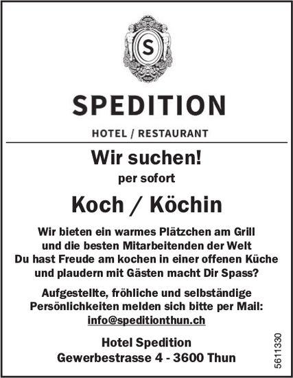 Koch / Köchin bei Hotel Spedition per sofort gesucht