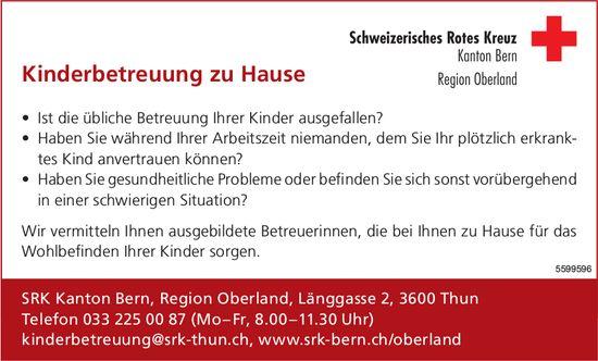 Schweizerisches Rotes Kreuz, Kanton Bern - Kinderbetreuung zu Hause