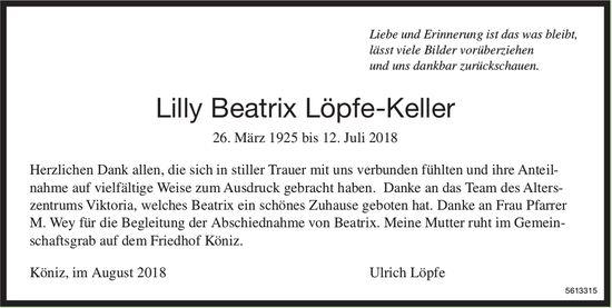 Löpfe-Keller Lilly Beatrix, im August 2018 / DS