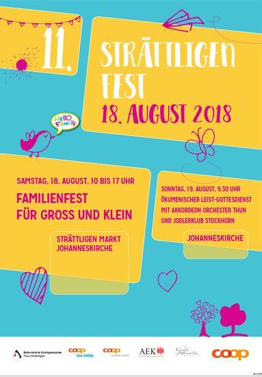 11. Strättligen Fest, 18. August & ökumenischer Leist-Gottesdienst, 19. August