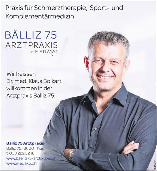 Bälliz 75 Arztpraxis - Praxis für Schmerztherapie, Sport- und Komplementärmedizin