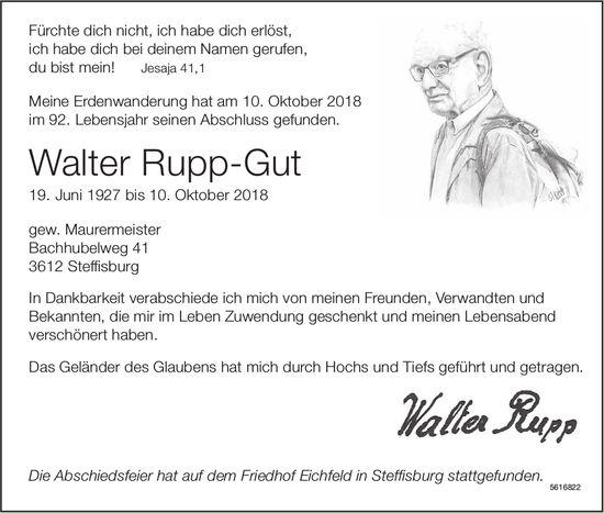 Rupp-Gut Walter, Oktober 2018 / TA