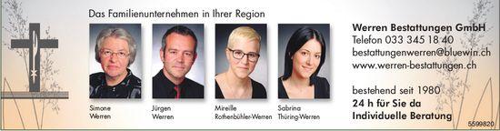 Das Familienunternehmen in Ihrer Region, Werren Bestattungen GmbH