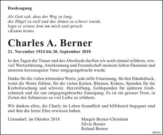 Berner Charles A., September 2018 / TA