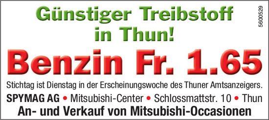 SPYMAG AG - Günstiger Treibstoff in Thun! Benzin Fr. 1.65