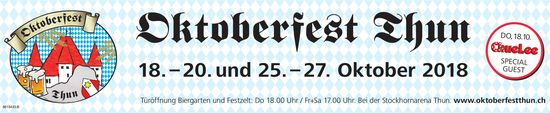 Oktoberfest Thun - 18. - 20. und 25. - 27. Oktober