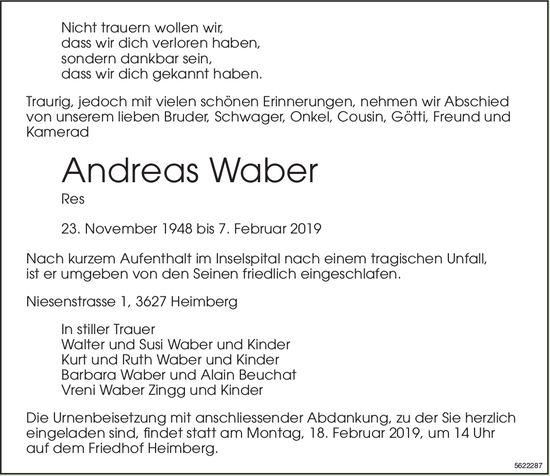 Waber Andreas, Februar 2019 / TA