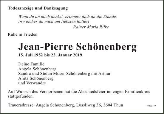 Schönenberg Jean-Pierre, Januar 2019 / TA + DS