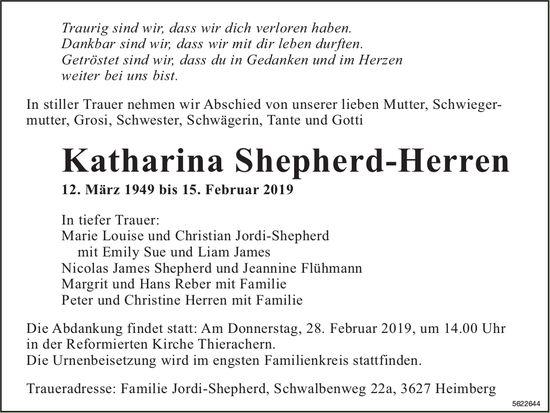 Shepherd-Herren Katharina, Februar 2019 / TA