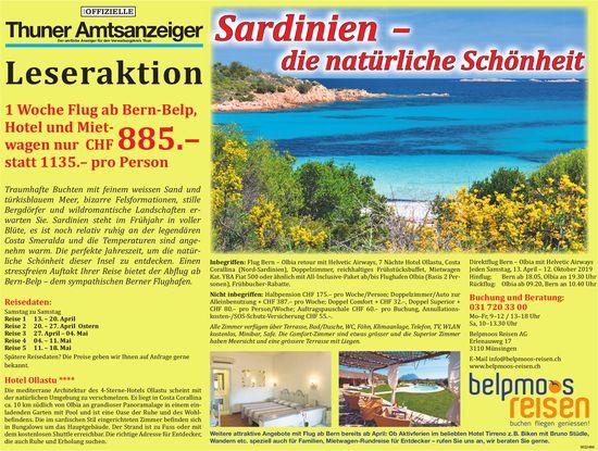 Thuner Amtsanzeiger Leseraktion: Sardinien: die natürliche Schönheit